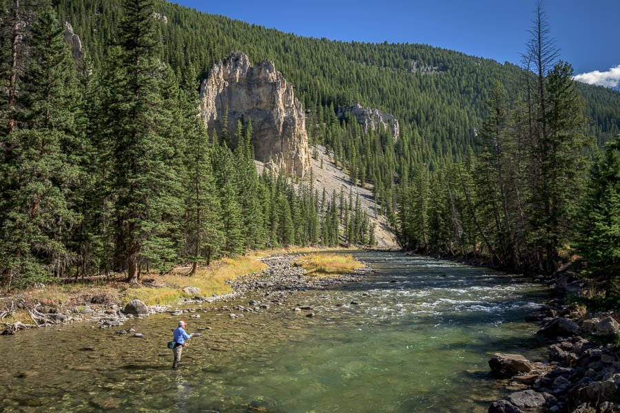 Gallatin river glacier to yellowstone for Fly fishing yellowstone river