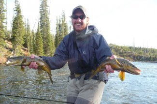 Guided fly fishing Yellowstone Park
