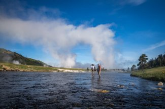 fly fishing the Firehole River