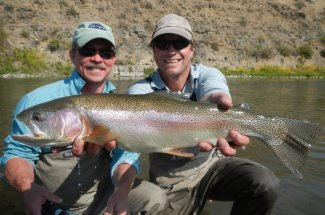 rainbow trout fly fishing guided trip montana