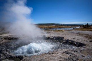 geyser yellowstone national park fly fishing montana