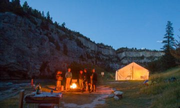 Montana overnight river camping
