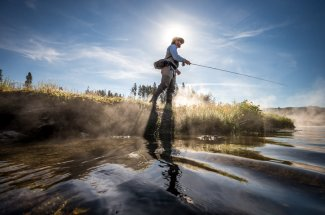 Guided fishing trip in Yellowstone National Park