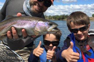 montana rainbow fly fishing guided trip adventure