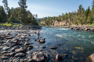 river bend fly fishing montana angler catch and relase